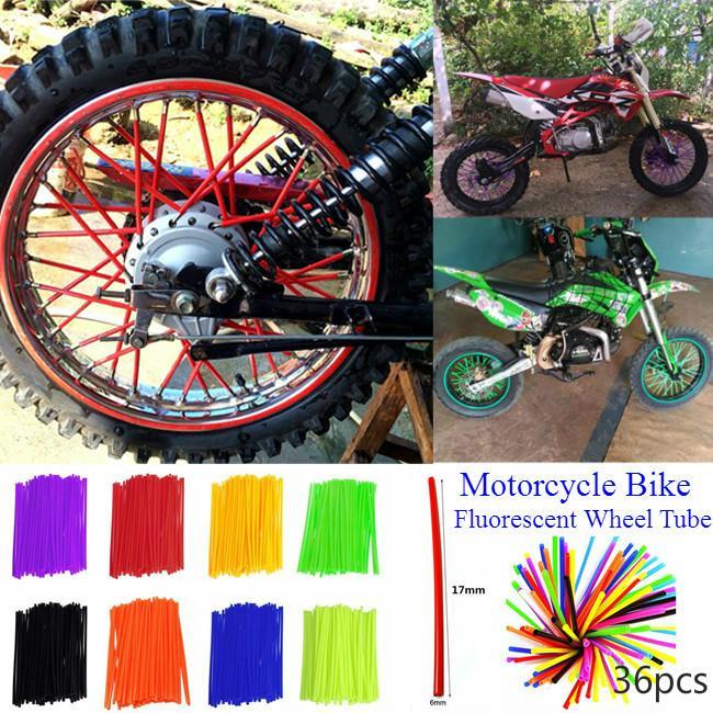 DWSFADA 36 PCS Wheel Spoke Wraps Kit Rims Skins Covers Guard Protector Motocross Pit Motorcycle/ï/¼/ˆpurple/ï/¼/‰