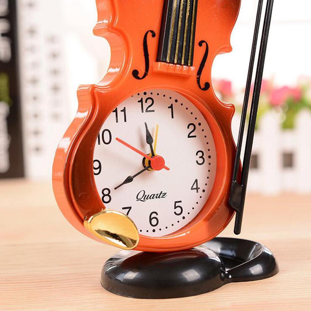 Simulation Violin Alarm Clock Creative Desktop Clock Living Room Ornaments-buy at a low prices on Joom e-commerce platform