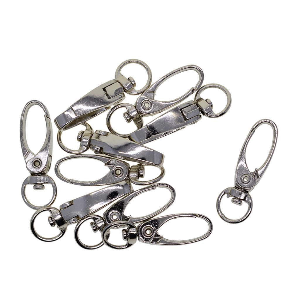 10pcs Metal Swive Alloy Snap Hook Clasp Keychain Set for your DIY Craft-5pcs silver Color+5pcs Golden color