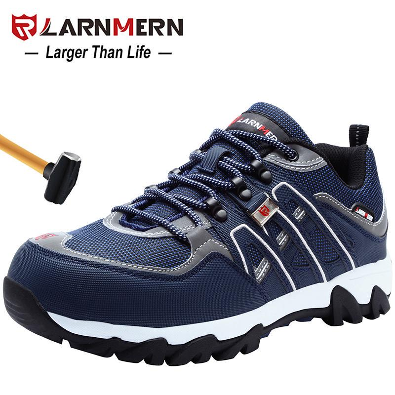 LARNMERN Men Steel Toe Safety Shoes ESD Anti-Static Lightweight Work Sneakers