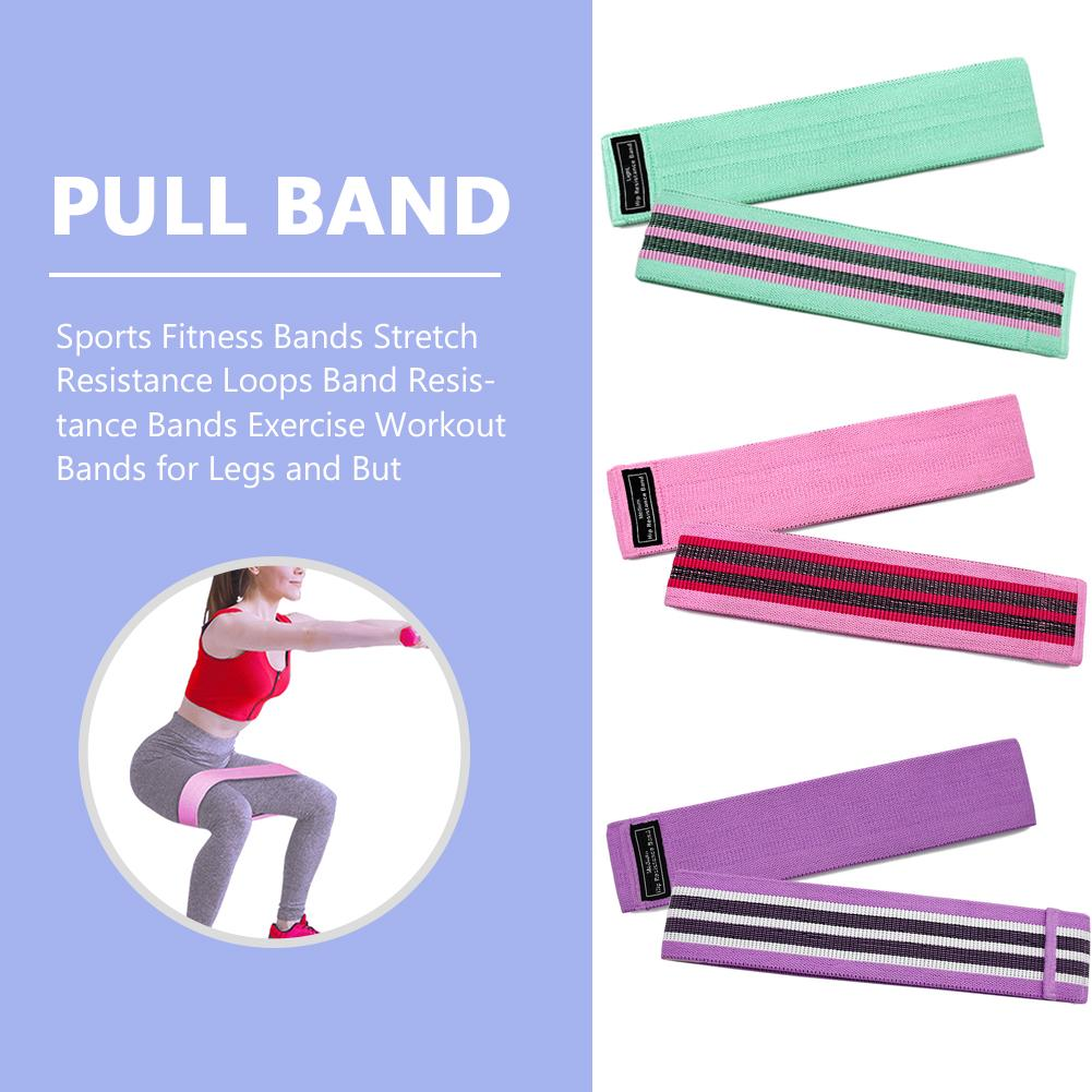 3 Piece Resistance Bands Loop Exercise Sports Fitness Home Gym Yoga Elastic Band