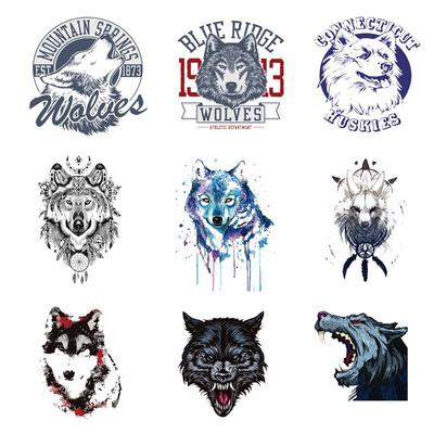 Iron-on Transfers for Clothing Patches On Clothes Thermo Stickers Diy Animals Patch Flex Fusible Transfer Textile Vinyl Stripe I