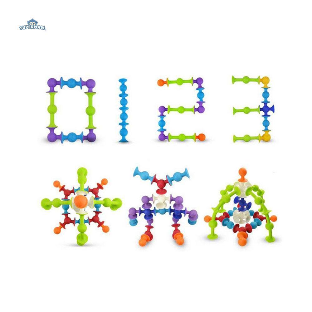 72pcs Squigz Sucker Cup Building Blocks Intellectual Development Silicone Toys