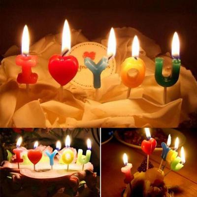 Amazing I Love You Letter Happy Birthday Candles Novelty Anniversary Funny Birthday Cards Online Alyptdamsfinfo