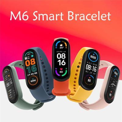 Smart Bracelet Watch Fitness Tracker Heart Rate Blood Pressure Monitor Color Screen IP67 Waterproof Smart Watch M6