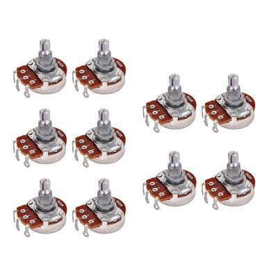 8pc 10*15mm 6mm Dia Knurled Shaft Aluminum Volume Control Potentiometer Knob MTS