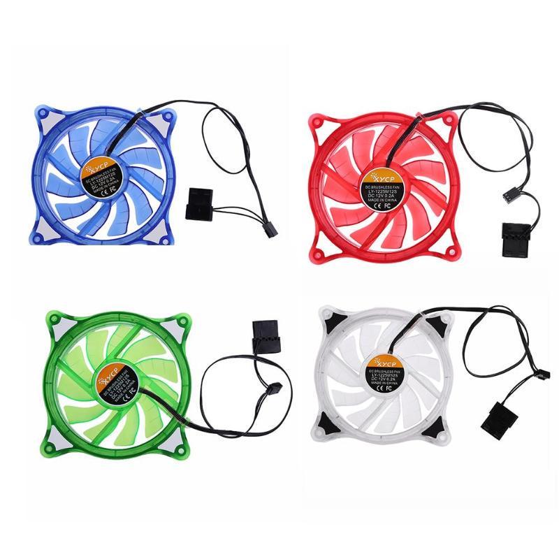 Magideal RGB Silent 12cm 12V Computer Cooling Fan Desktop Cooler Fan 23.5DBA