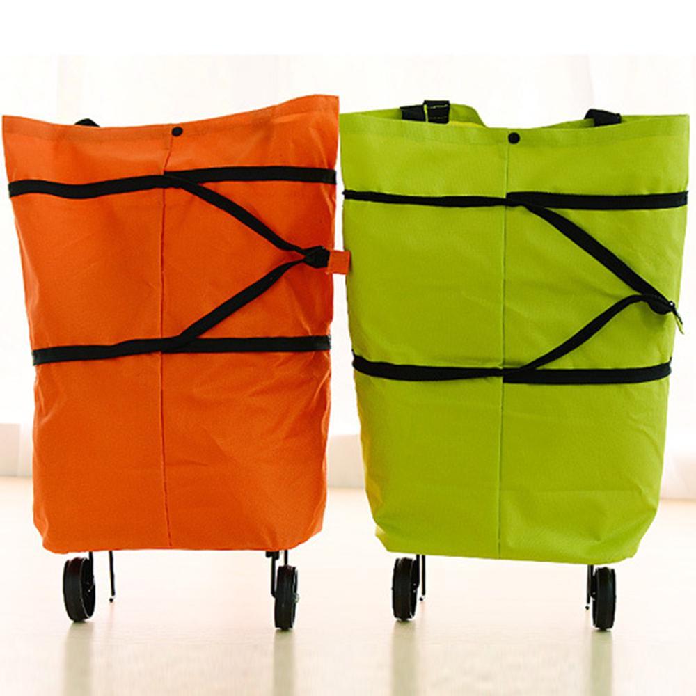 Bedler B11-46 Shopping Trolley Bag Multifunci/ón port/átil Oxford Folable Tote Cesta de Compra Bolsas de Compra Reutilizables con Ruedas Carrito de Compra de comestibles rodante Bolsa de la Compra