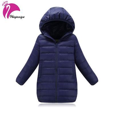 fd7d100de Coats Down Jackets Children s Solid Cotton-padded Girls Warm Winter ...