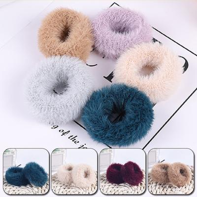 2Pcs Hair Accessories Hair Accessories Imitation Rabbit Fur Elastic Hair Ring Rope