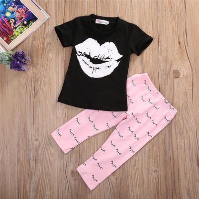 2018 crianças meninos meninas conjuntos de roupas bonito crianças casual t shirt com falso colete calça 2 pçs set fatos de treino do bebê