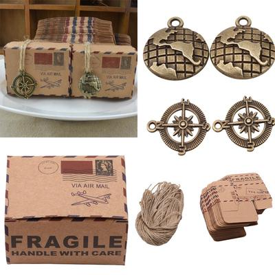 50//100pcs Cute Kraft Paper Pillow Favor Gift Box Wedding Party Candy Boxes New