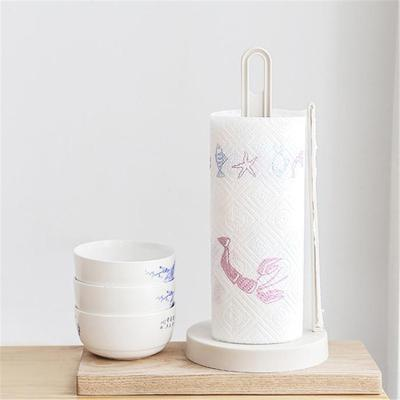Vertical Roll Paper Towel Storage Rack Napkins Stand Shelf Desktop Holder For Kitchen Tools Buy At A Low Prices On Joom E Commerce Platform