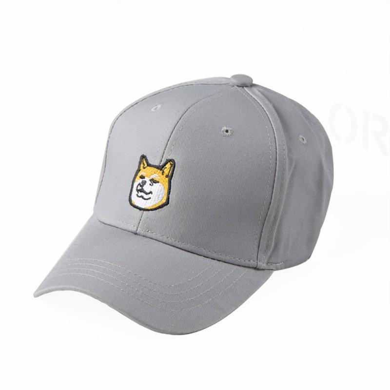 Shiba Inu Heart With Crown Baseball Cap Adjustable Hip Hop Cap Black