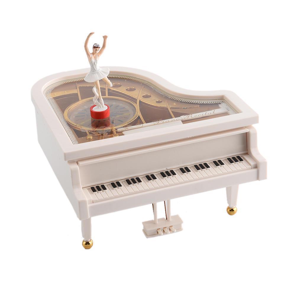 Большая музыкальная шкатулка в форме пианино Заводной механизм с вращающейся пластиковой танцующей девушкой – купить по низким ценам в интернет-магазине Joom