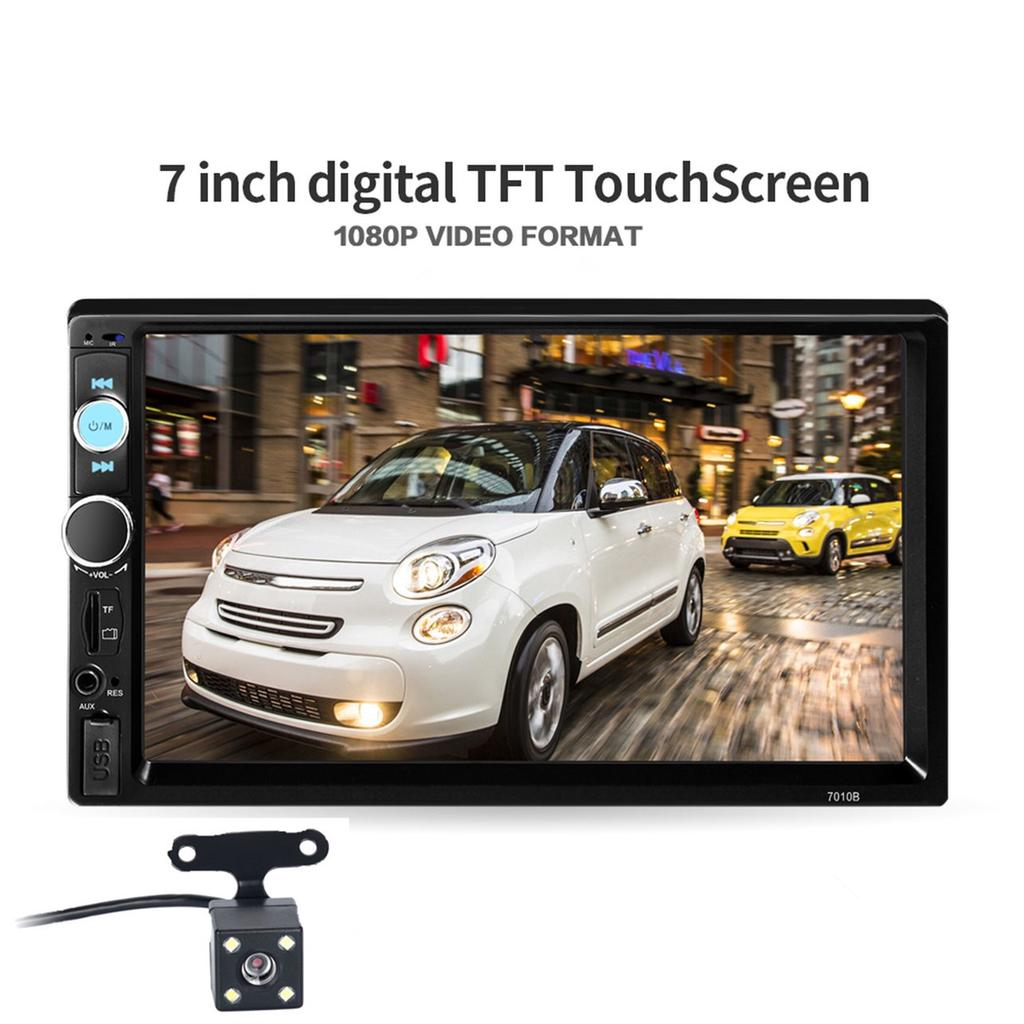 7'' Car Audio HD Radio 2 Din FM/USB/AUX/Touch Screen Bluetooth Stereo MP5  Player With Rear Camera-buy at a low prices on Joom e-commerce platform