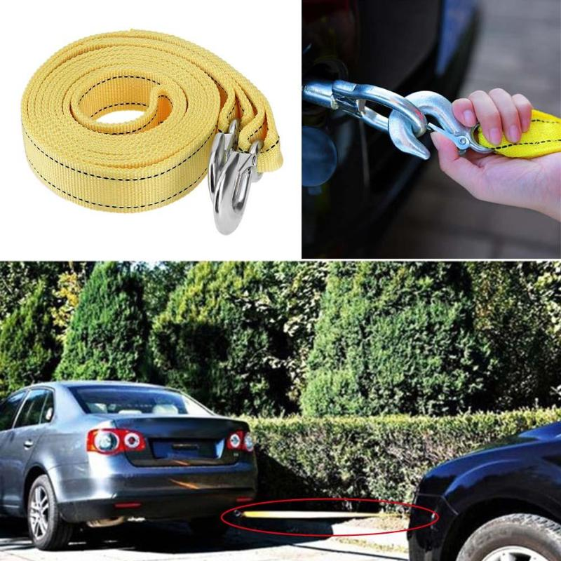 5M Tow Towing Pull Rope Strap 5 Tonne Heavy Duty Road Car Van Recovery