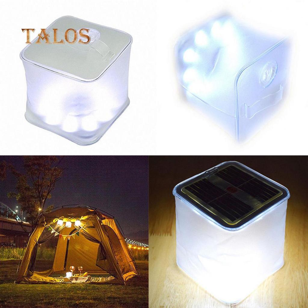 Foldable LED Solar Power Inflatable Tent Emergency Camping Lamp Light X6R8