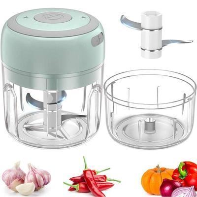 100ML Mini Garlic Grinder Electric Garlic Chopper Cordless Food Fruit Vegetable Blender Kitchen