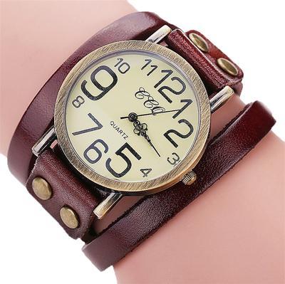 Luxury Brand Vintage  Leather Bracelet Watch Women Leather Bamboo Women's Watch  Classic Reloj Mujer 2020 Relogio Feminino