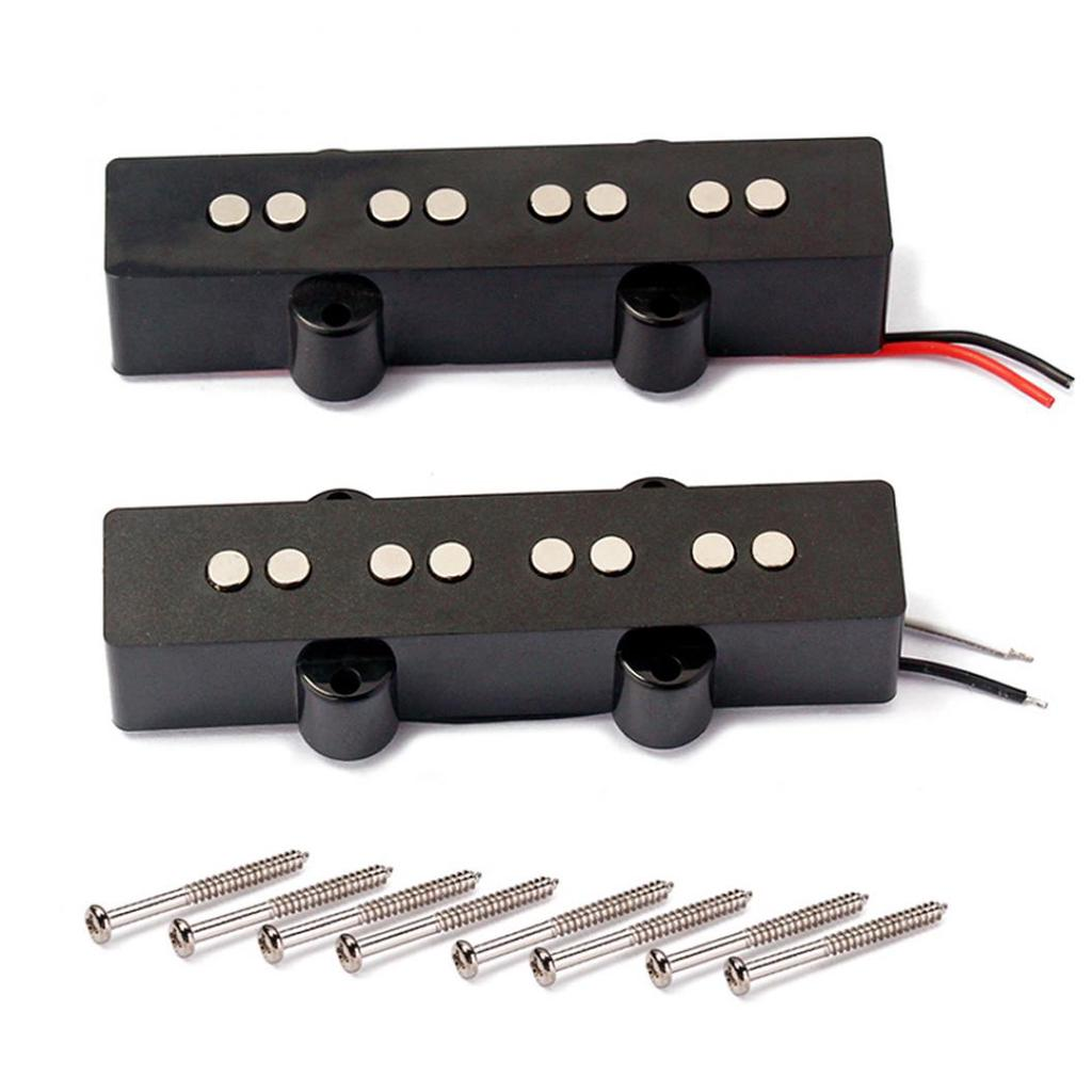 2Pcs 4 String Open Style Pickups Humbucker For Bass Guitar JB