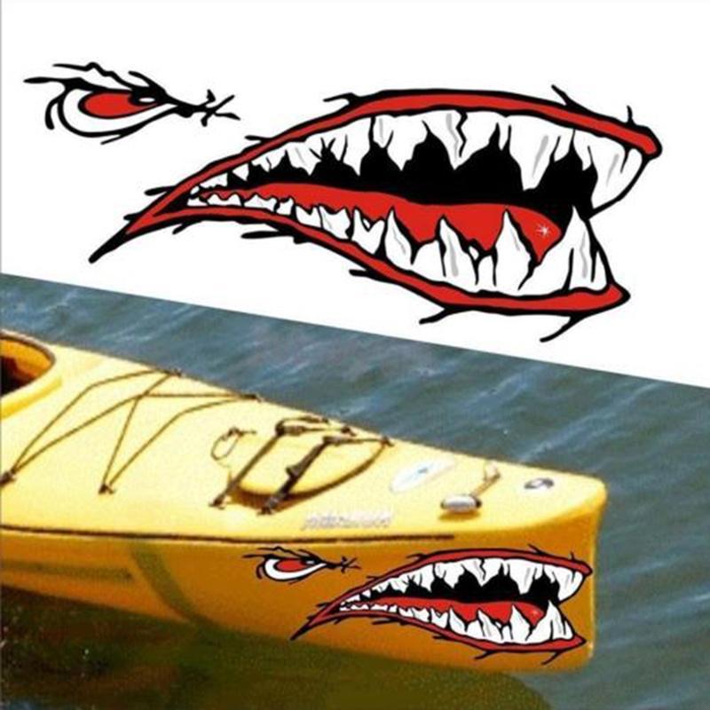 2Pcs Autocollants Kayak Autocollants Poissons Morceaux pour Kayak Canoë