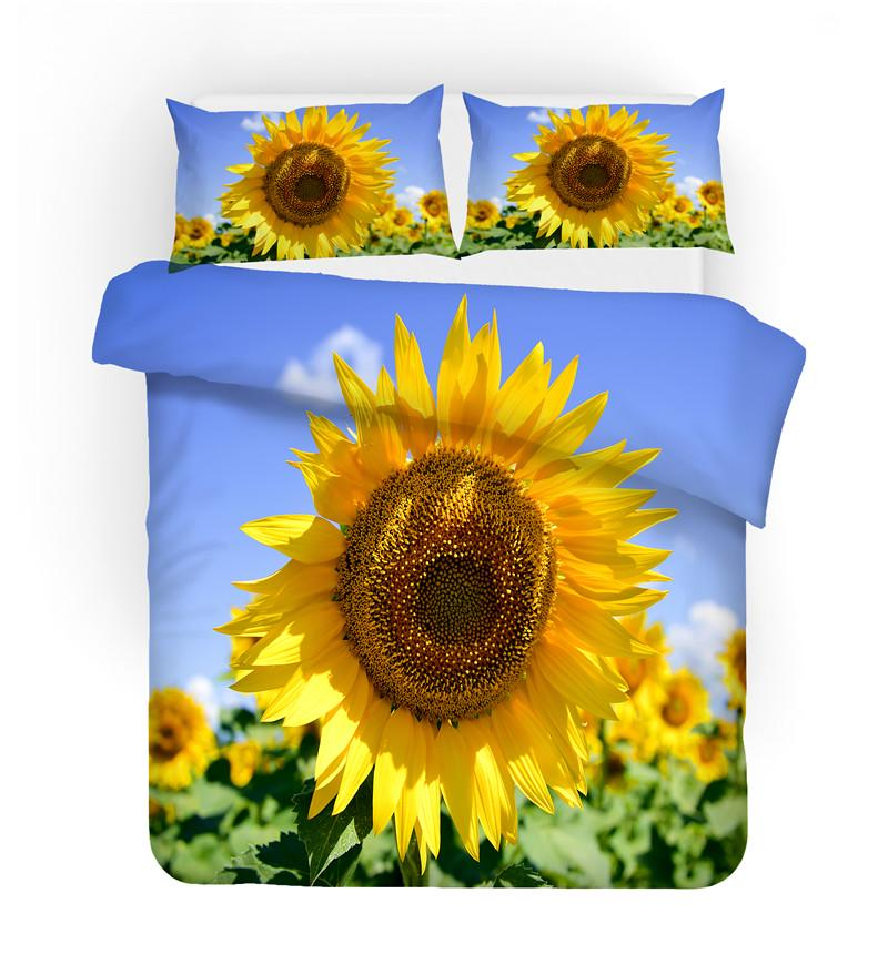 show original title Details about  /3D Red Sunflower zhuc 3976 Bed Pillowcases Quilt Duvet Cover Set