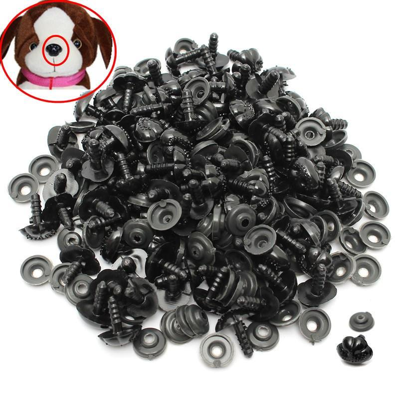 50PCS Mushroom Beads Black Plastic Eyes for DIY Sewing Crafting Buttons for Puppet Bear Doll Animal Stuffed Toys 20mm