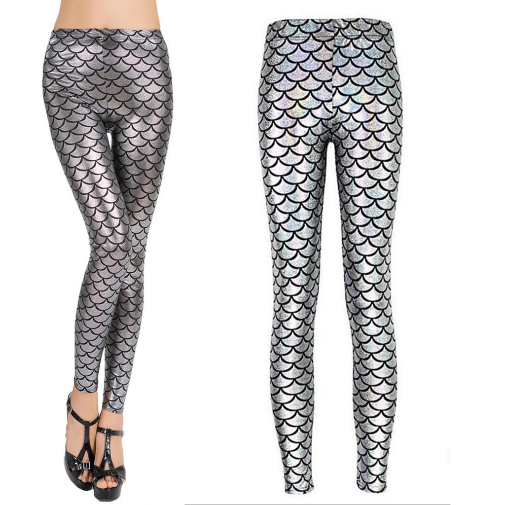 Señora flaca escala simulación Slim sirena Sexy Pantalones leggins ... 9c4056bea726