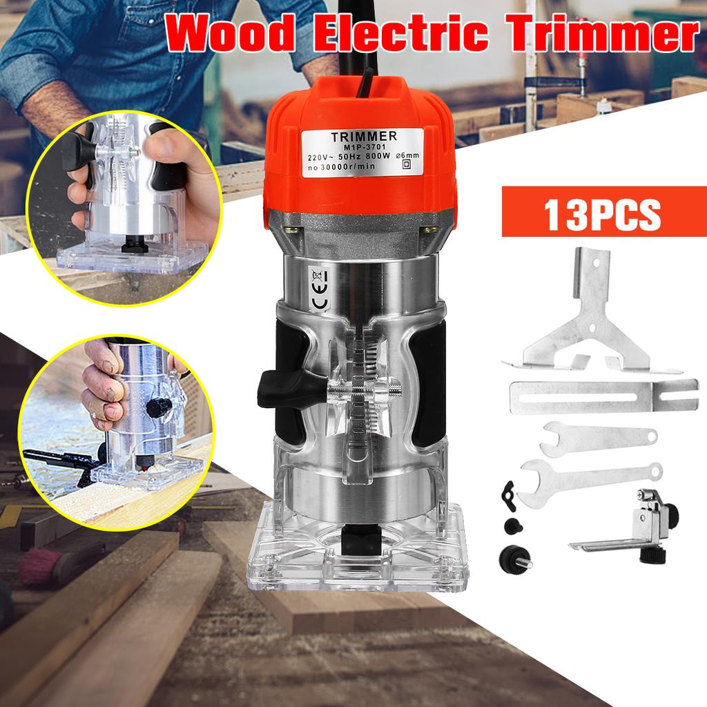 800w 30000prm 1 4 Electric Wood Trimmer Laminator Router Joiners Tool Set 220v Buy At A Low Prices On Joom E Commerce Platform