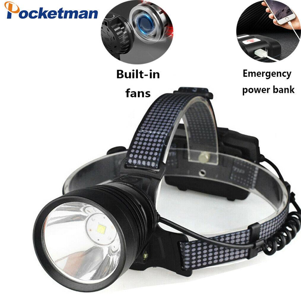 Waterproof Headlamp LED Flashlight Zoomable Torch Light Camping Fishing Hunting