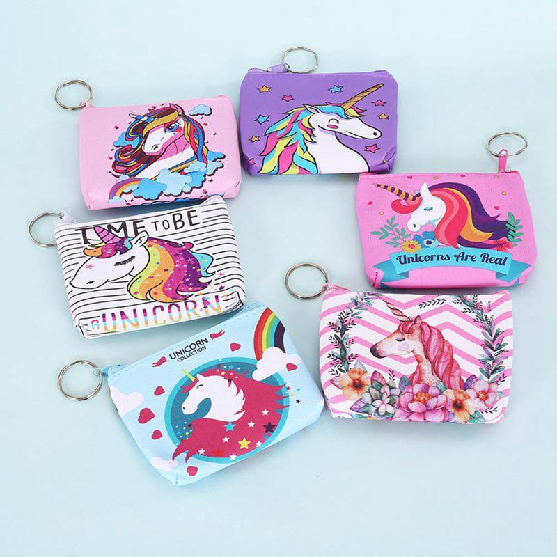 zipper purse unicorn coin purse mermaid coin pouch change wallet zipper pouch Coin purse little pony zipper pouch unicorn wallet