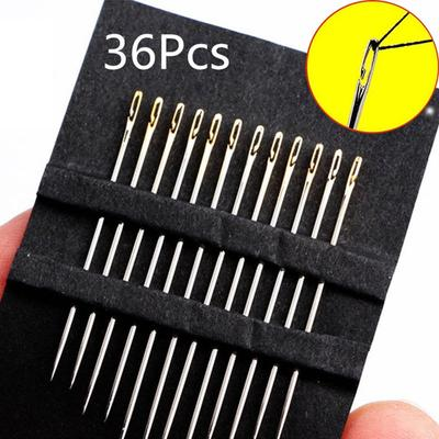 36pcs Multi-size Side Opening Stainless Steel Hand Sewing Needles