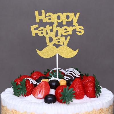 Swell Happy Fathers Day Cupcake Cake Toppers Cake Flags Father Birthday Funny Birthday Cards Online Bapapcheapnameinfo