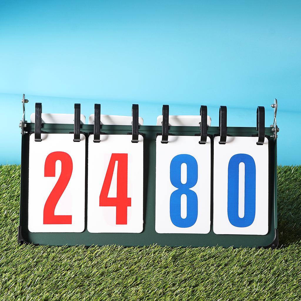 BLLBOO Sports Scoreboard 2-digit 2//3//4 Digit Portable Flip Sports Scoreboard Score Counter for Table Tennis Basketball