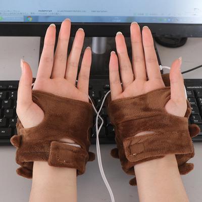 1pair 5V winter warm gloves usb powered heated pads hand warmer 8*18cm pads TB