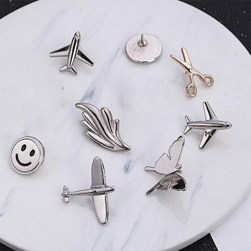 Clothing Accessory DIY Shirt Pins Collar Brooch Beach Crane Corsage Decoration