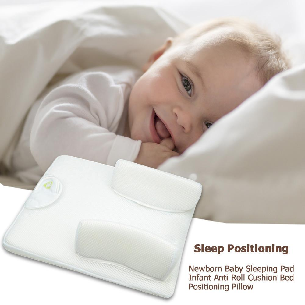 Newborn Baby Kid Anti Roll Pillow Sleeping Pad Nursing Cushion Prevent Flat Head