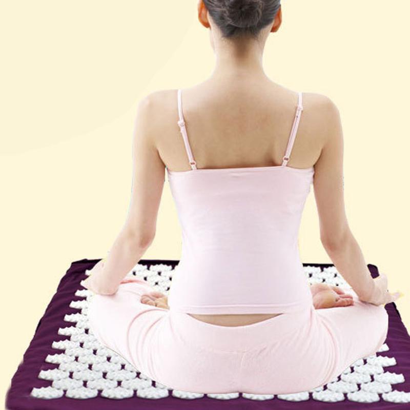 Спайк Акупрессура Массаж подушки снимают стресс боли Йога здравоохранения фото