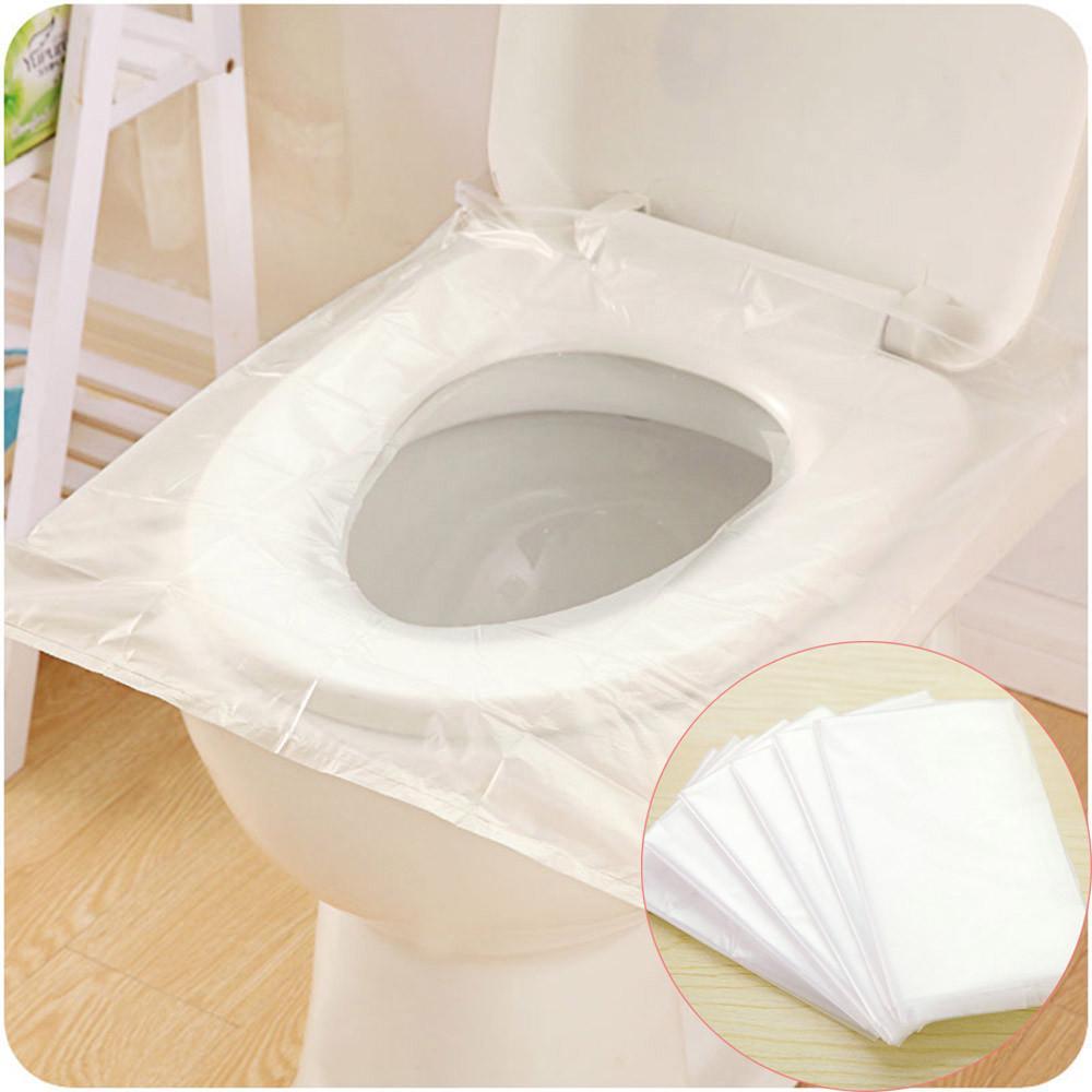 Disposable Toilet Seat Cover Travel Plastic Waterproof Portable Public Potty Mat
