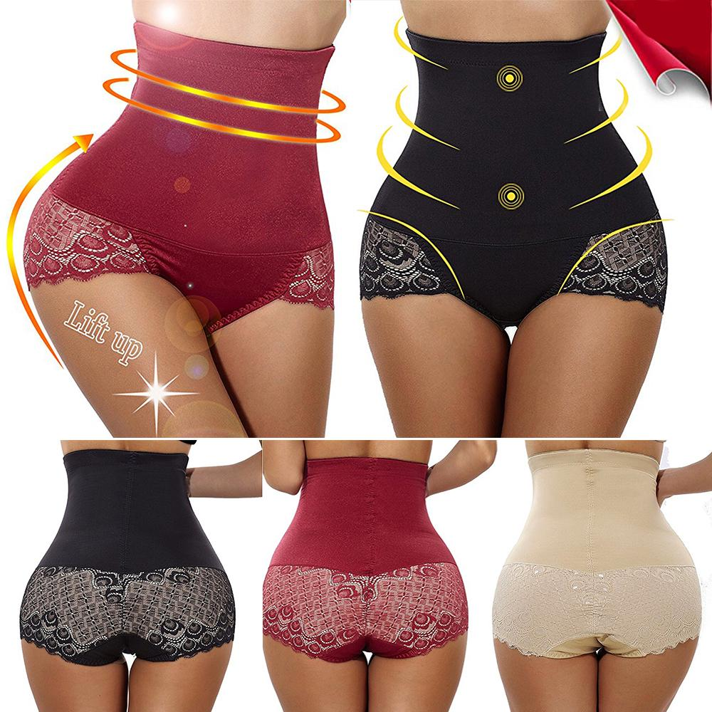 1031a53d48 Plus Size Women High Waist Controller Briefs Shapewear Pants Body Slim  Underwear Lace Shaper-buy at a low prices on Joom e-commerce platform