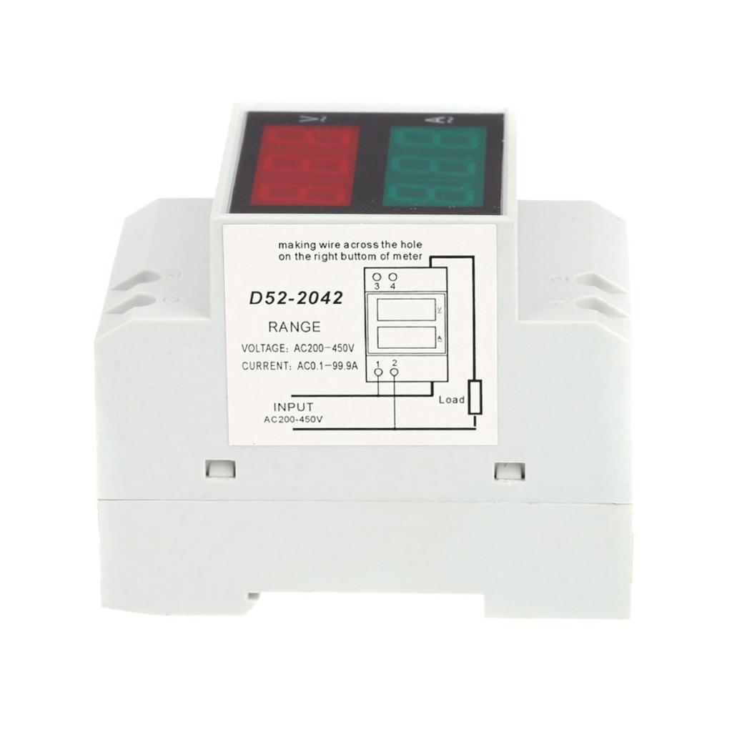 Digital Hutschienen-LED-Spannung Amperemeter aktuelle Meter ...