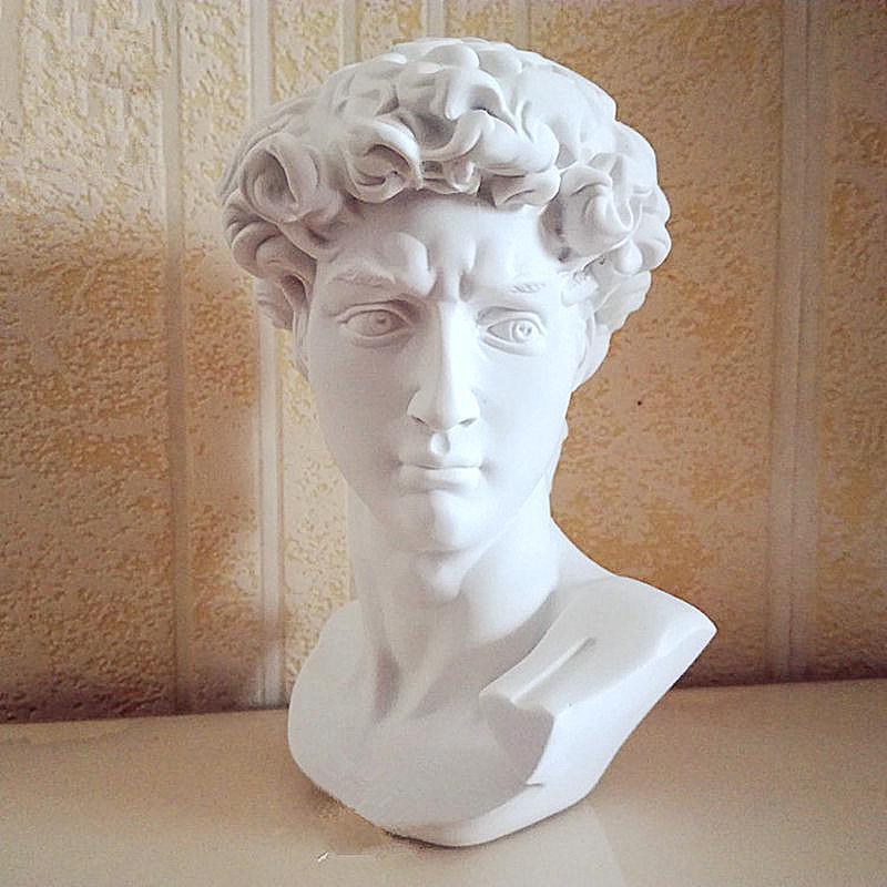 1pc Dollhouse Miniature Bust Sculpture White Resin Statue Pretend Furniture/_DS