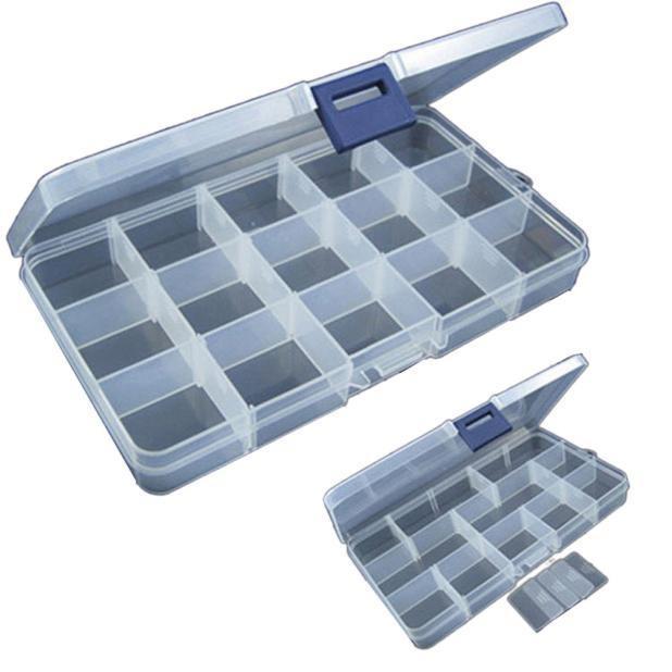Регулируемые пластиковой рыбалка приманка крючок снасти Box хранения случае Организатор фото