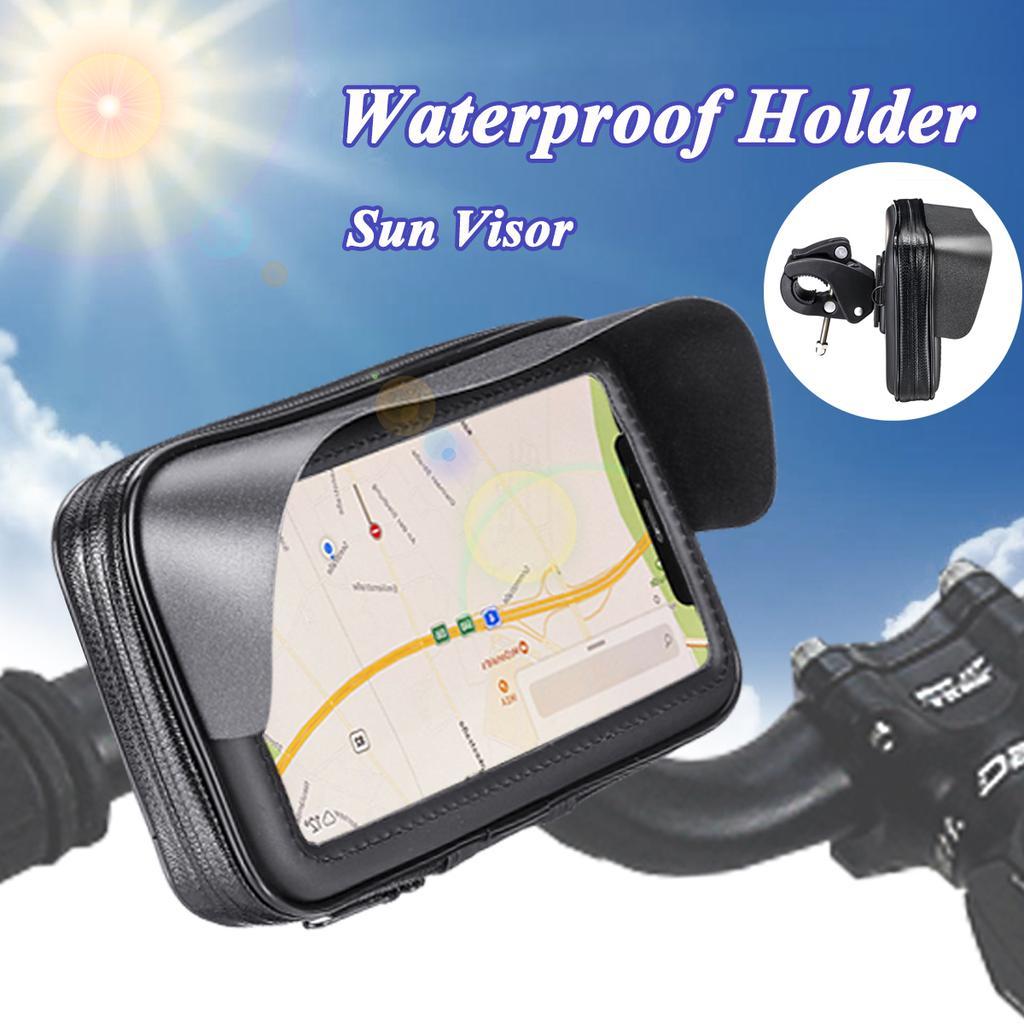 "MTB Bicycle Motorcycle Scooter 6.3/"" Mobile Phone Holder Bag Waterproof Case"