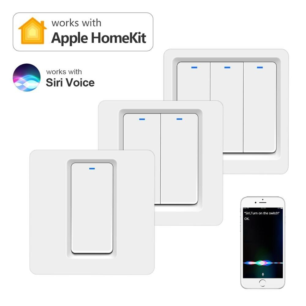 Smart Home House Light Switch Work With Apple Homekit Siri Voice Control Wifi Switch Neutral Wire Required Touch Sensor Switches Buy From 18 On Joom E Commerce Platform