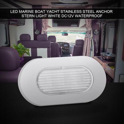 4X Marine Boat Yacht RV LED Courtesy Boat Lamp Stair White Light 12V Waterproof