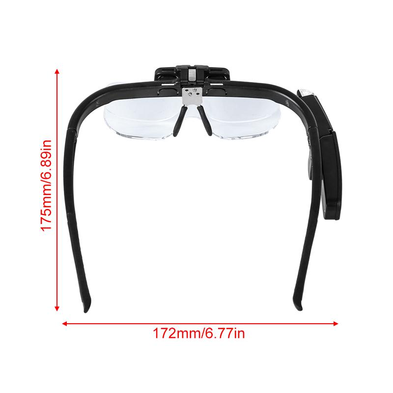 4 5x 6 Magnifier Magnifying Eyeglass Loupe Lens Jeweler Watch Repair With 2 Led Lights 3 Lens Buy At A Low Prices On Joom E Commerce Platform