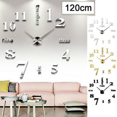 Designer Wall Clock Living Room Wall Tattoo Design Bird Deco XXL 3D