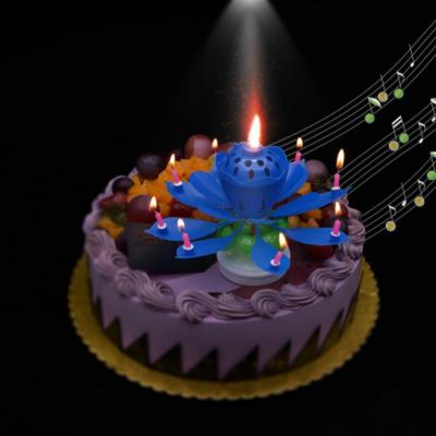 Romance Amazing Music Peanut Happy Magic Flower Lotus Candle Gift Romantische Erstaunli